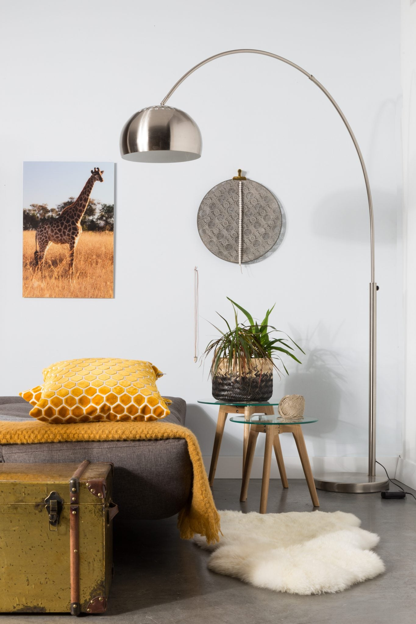 Floor lamp Metal Bow
