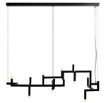 Pendant lamp Elements Black
