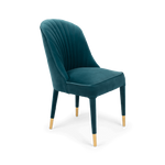 Give Me More Velvet Chair Blue