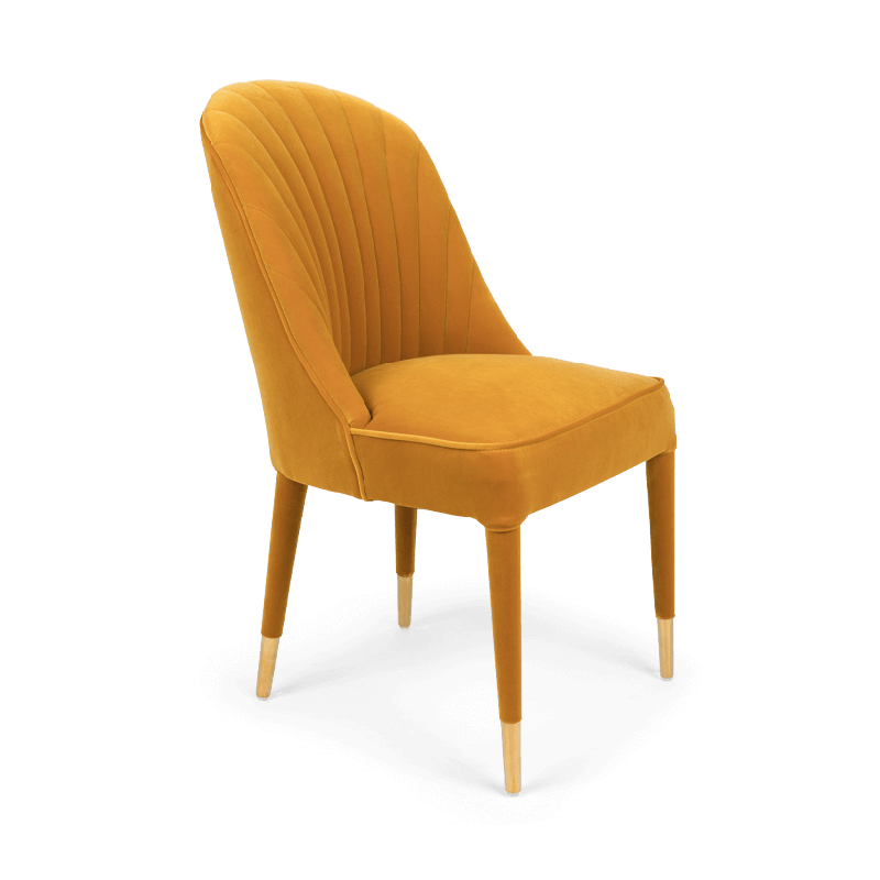Give Me More Velvet Chair Ochre