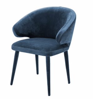 Dining chair Cardinale Roche Teal Blue