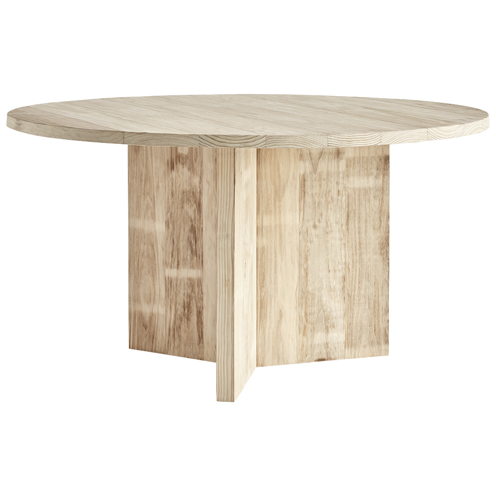 Dining Table Chunky Round Natural