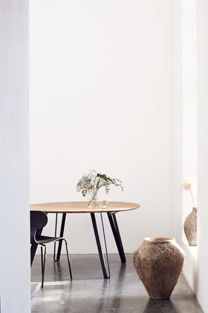 Extendable Dining Table Space Natural 150