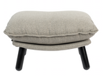 Footstool Hocker Lazy Sack Light Grey