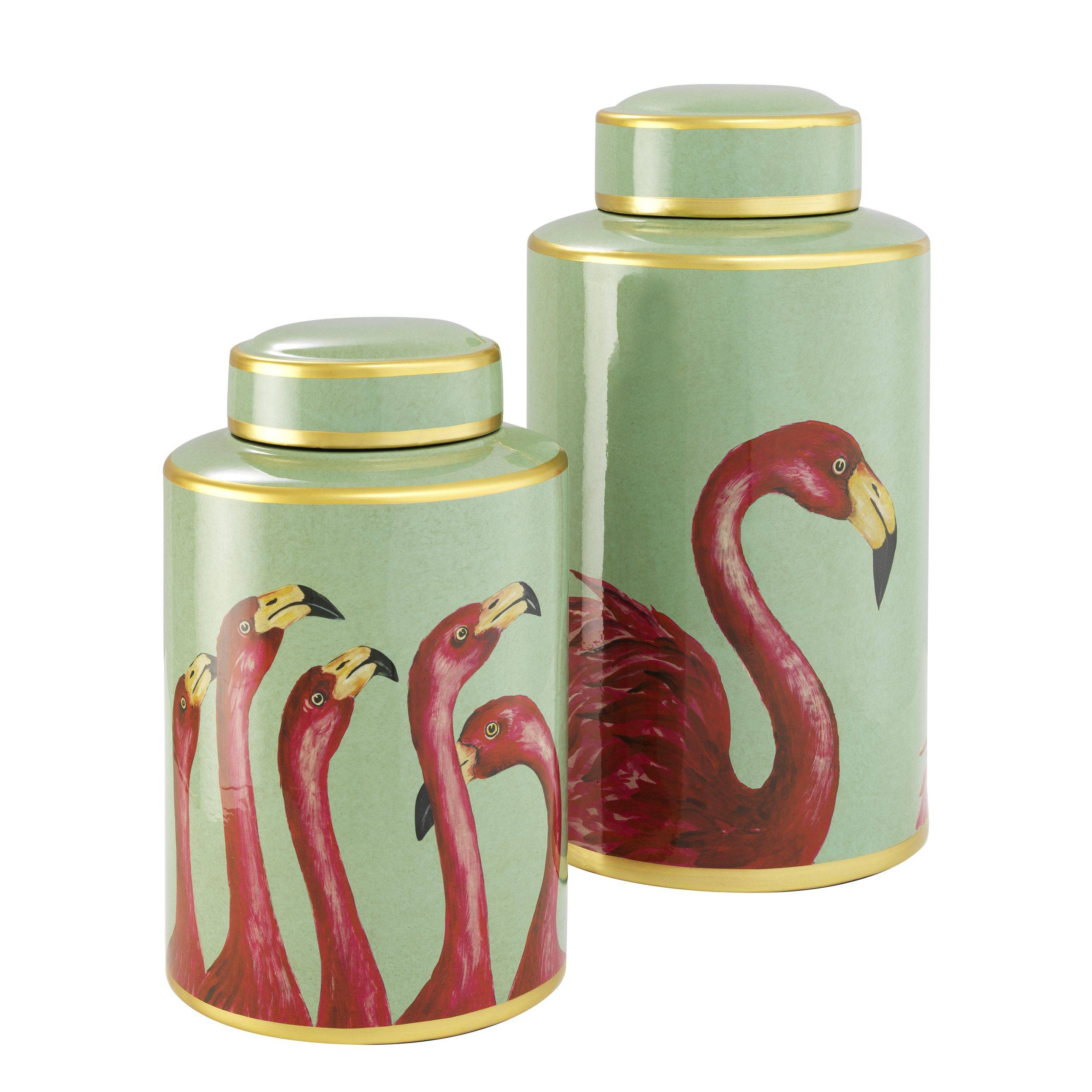 Jar Flamingo set of 2