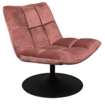 Lounge chair Bar Velvet pink