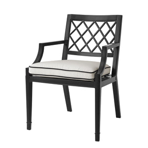 Outdoor Dining Armchair Paladium Black