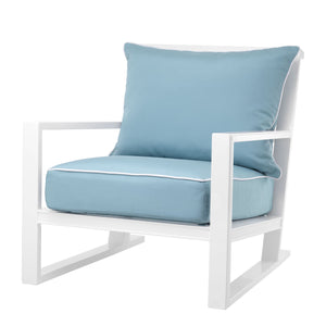 Outdoor Lounge Chair Como Mineral Blue