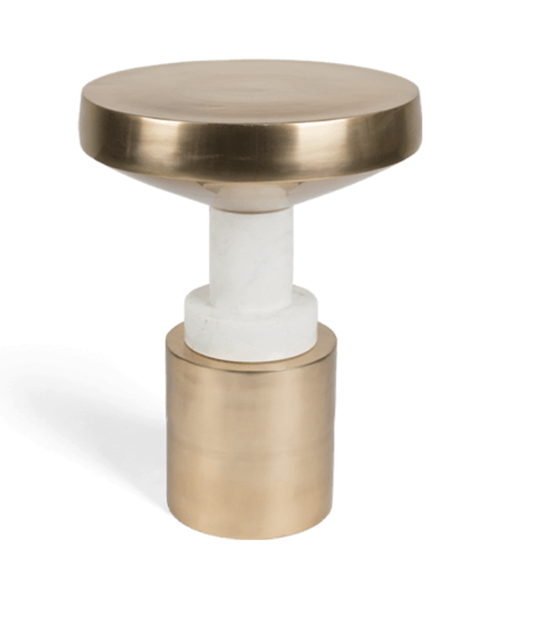 Side table Chunky Footed Gold