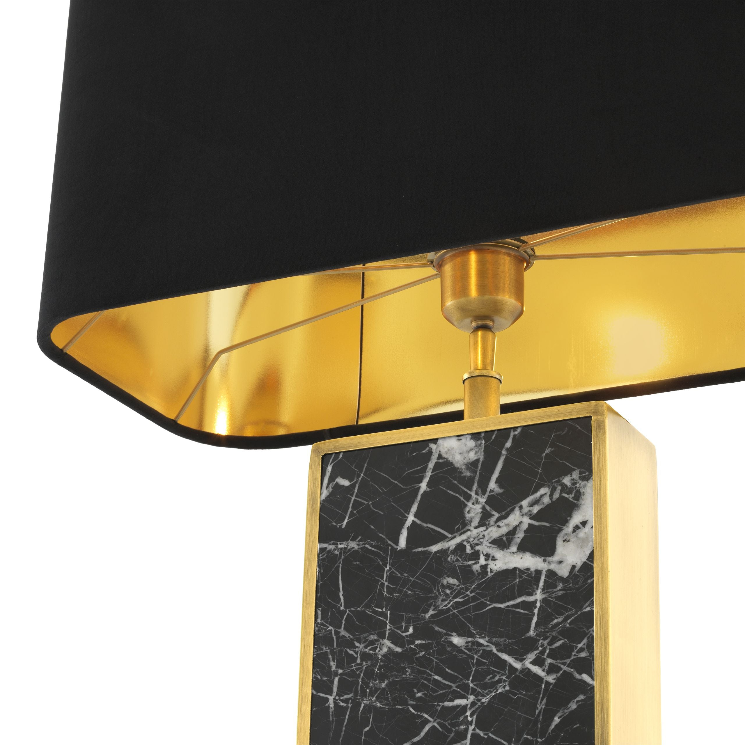Table lamp Arrive Black Marble & Antique Brass