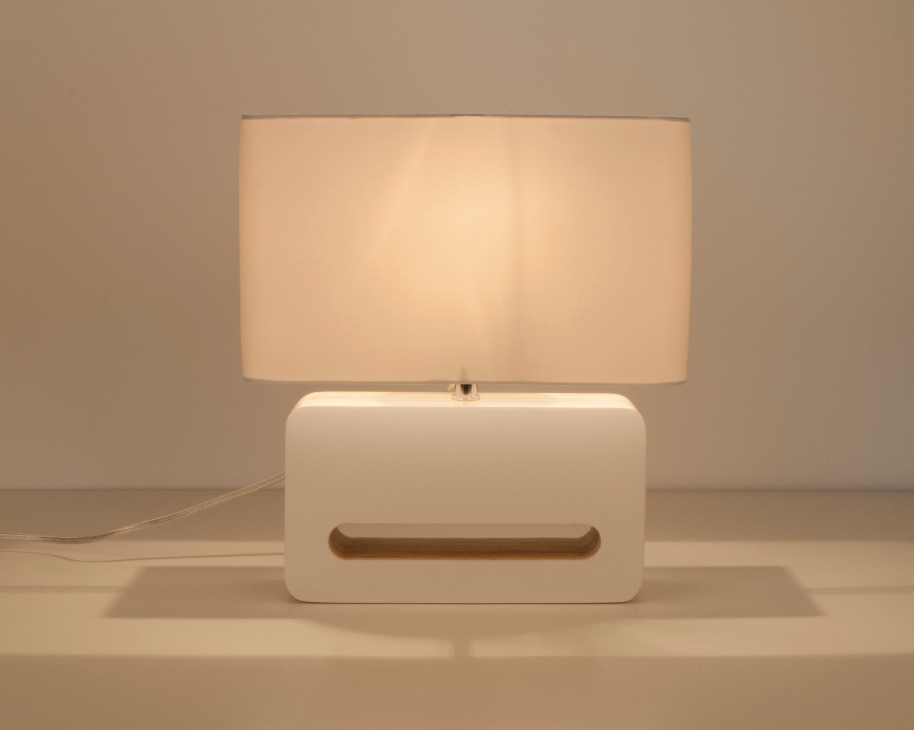 Table lamp Wood White