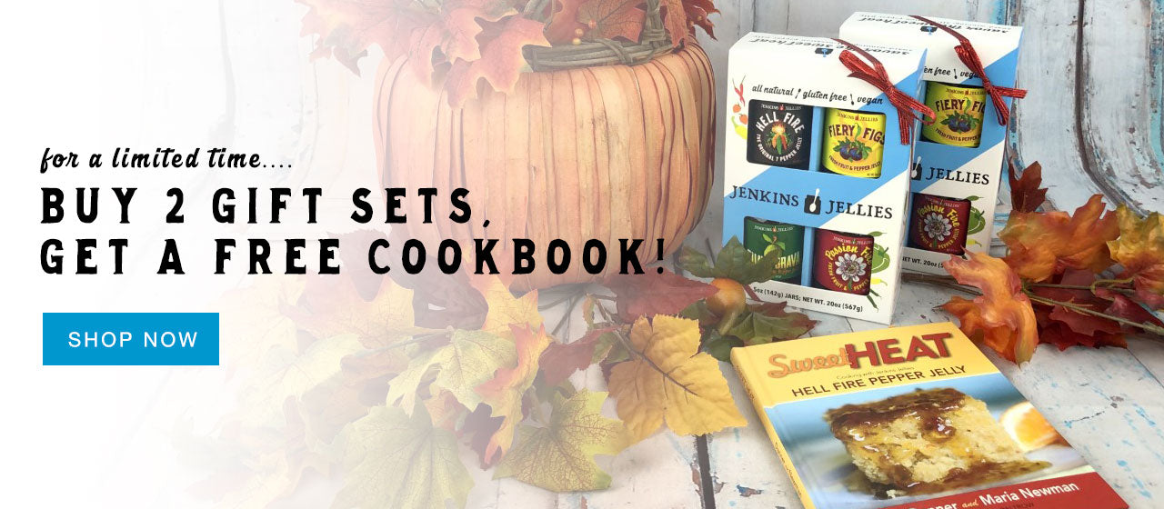 holiday promotion buy 2 gift sets get a free cookbook