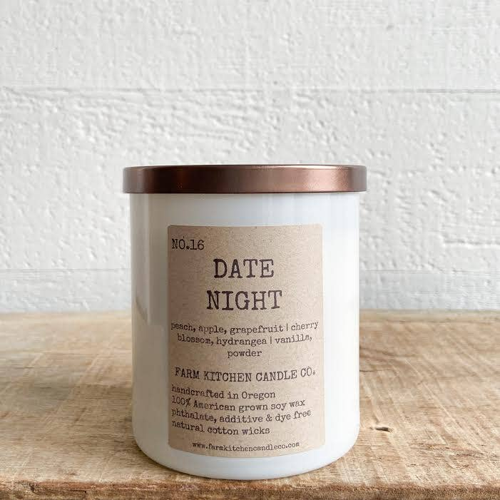 NO. 16 DATE NIGHT (LTD. EDITION) soy candle BY FARM KITCHEN CANDLE CO.