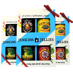 Original 7-Pepper Jelly (3) Boxed Gift sets, bundled, RED ribbon; qualifies for FREE SHIPPING!