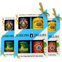Original 7-Pepper Jelly (3) Boxed Gift sets, bundled, GOLD ribbon; qualifies for FREE SHIPPING!