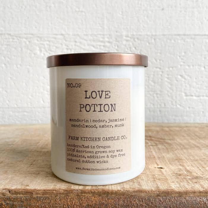 NO. 9 LOVE POTION (LTD. EDITION) soy candle BY FARM KITCHEN CANDLE CO.