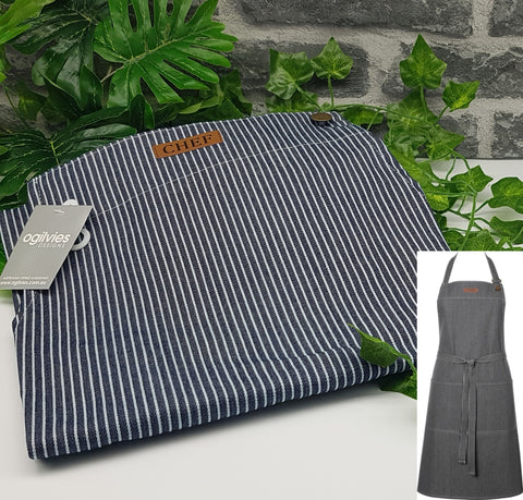 Stripe Chef Kitchen Apron
