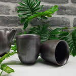 Latte Cups - Black Earth 2 Pc.