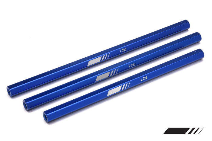 HEXAGON Aluminum Tie Rod 255mm Blue (COMPKART) - (4R)