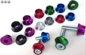 Anodized Aluminum Cap Screw Washer (Blue,Red & Green)