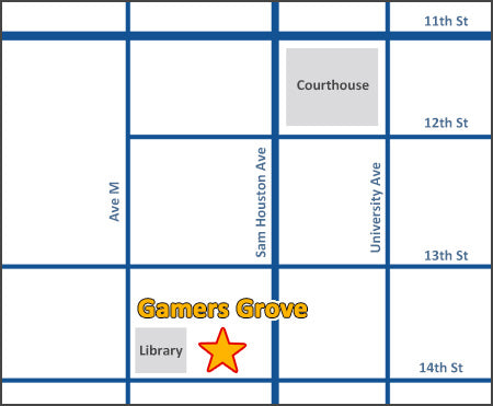 Gamers Grove location map