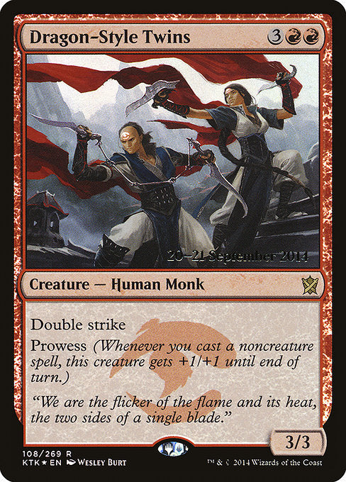 Dragon-Style Twins [Khans of Tarkir Promos] | Gamers Grove