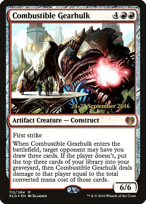 Combustible Gearhulk [Kaladesh Promos] | Gamers Grove