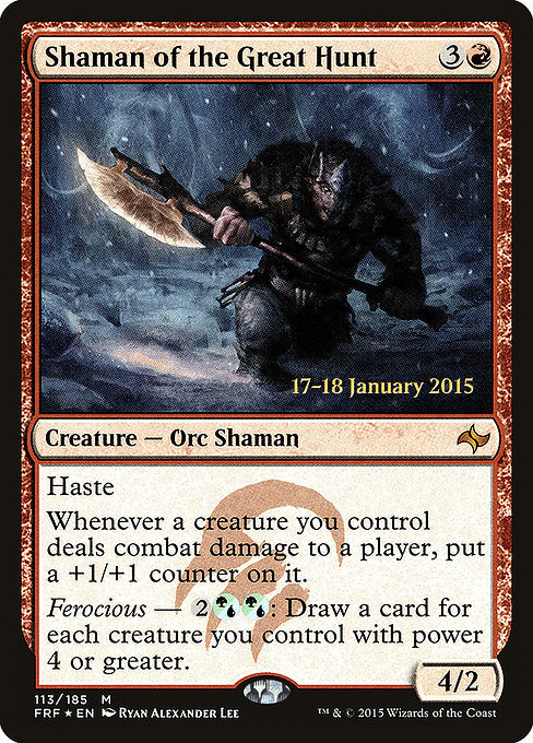 Shaman of the Great Hunt [Fate Reforged Promos] | Gamers Grove