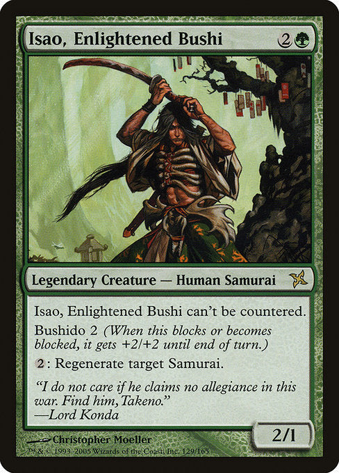 Isao, Enlightened Bushi [Betrayers of Kamigawa] | Gamers Grove