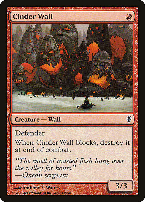 Cinder Wall [Conspiracy] | Gamers Grove