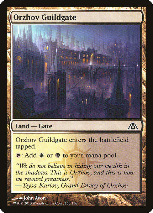 Orzhov Guildgate [Dragon's Maze] | Gamers Grove