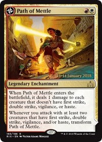 Path of Mettle // Metzali, Tower of Triumph [Rivals of Ixalan Promos] | Gamers Grove