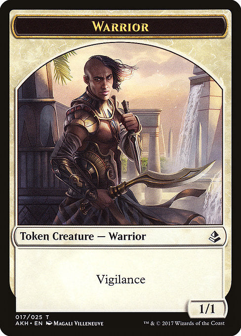 Warrior Token [Amonkhet Tokens] | Gamers Grove