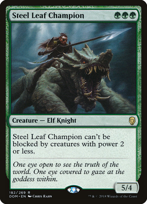 Steel Leaf Champion [Dominaria] | Gamers Grove