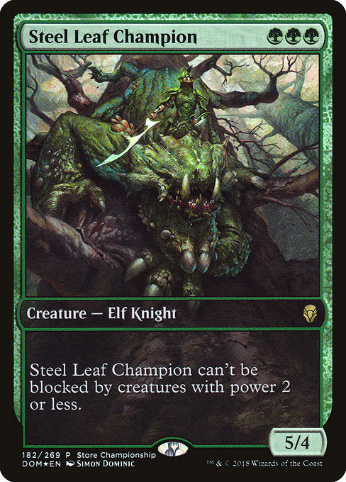 Steel Leaf Champion [Dominaria Promos] | Gamers Grove