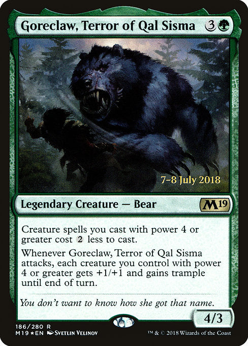 Goreclaw, Terror of Qal Sisma [Core Set 2019 Promos] | Gamers Grove