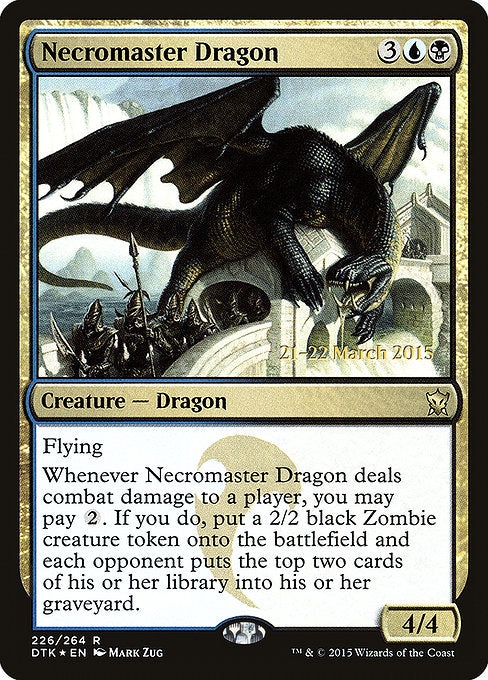 Necromaster Dragon [Dragons of Tarkir Promos] | Gamers Grove