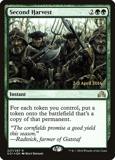 Second Harvest [Shadows over Innistrad Promos] | Gamers Grove