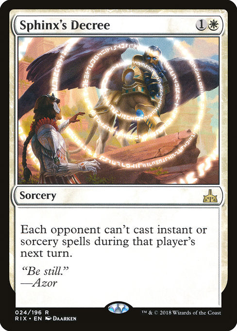 Sphinx's Decree [Rivals of Ixalan] | Gamers Grove