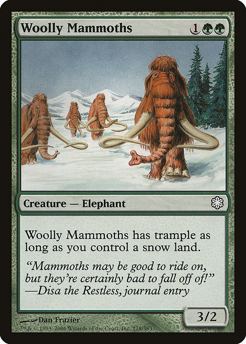 Woolly Mammoths [Coldsnap Theme Decks] | Gamers Grove