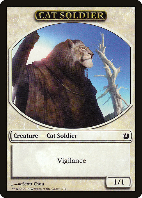Cat Soldier [Born of the Gods Tokens] | Gamers Grove