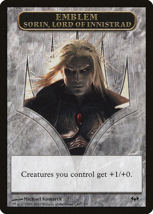 Sorin, Lord of Innistrad Emblem [Dark Ascension Tokens] | Gamers Grove