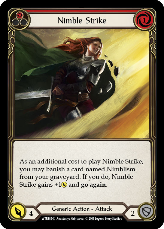 Nimble Strike (Red) [WTR185-C] Alpha Print Rainbow Foil | Gamers Grove