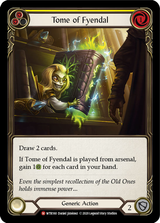 Tome of Fyendal [WTR160] Unlimited Edition Rainbow Foil | Gamers Grove