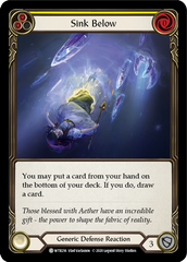 Sink Below (Yellow) [WTR216] Unlimited Edition Rainbow Foil | Gamers Grove