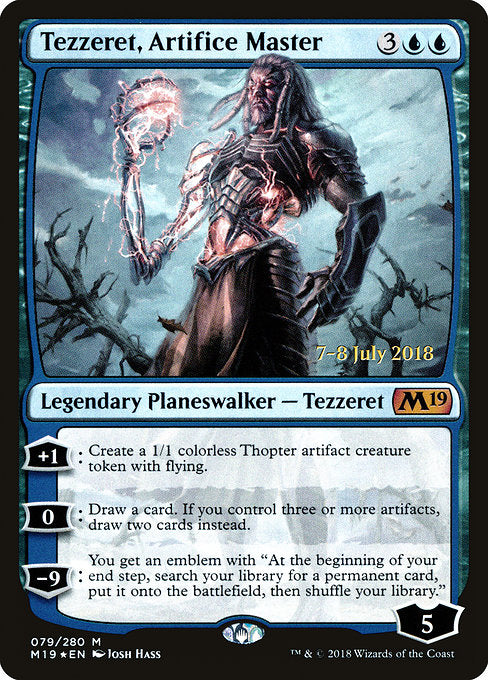 Tezzeret, Artifice Master [Core Set 2019 Promos] | Gamers Grove