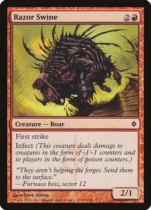 Razor Swine [New Phyrexia] | Gamers Grove