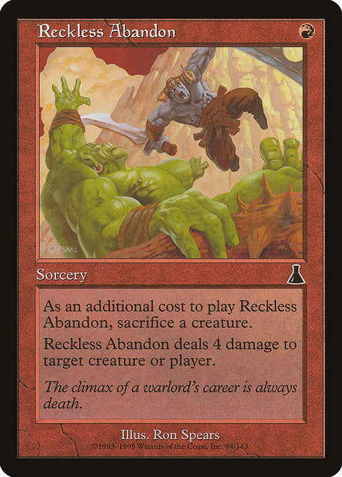 Reckless Abandon [Urza's Destiny] | Gamers Grove