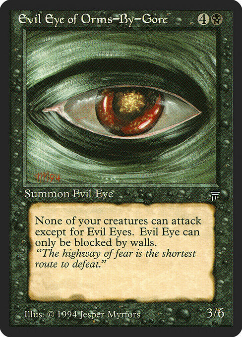 Evil Eye of Orms-by-Gore [Legends] | Gamers Grove
