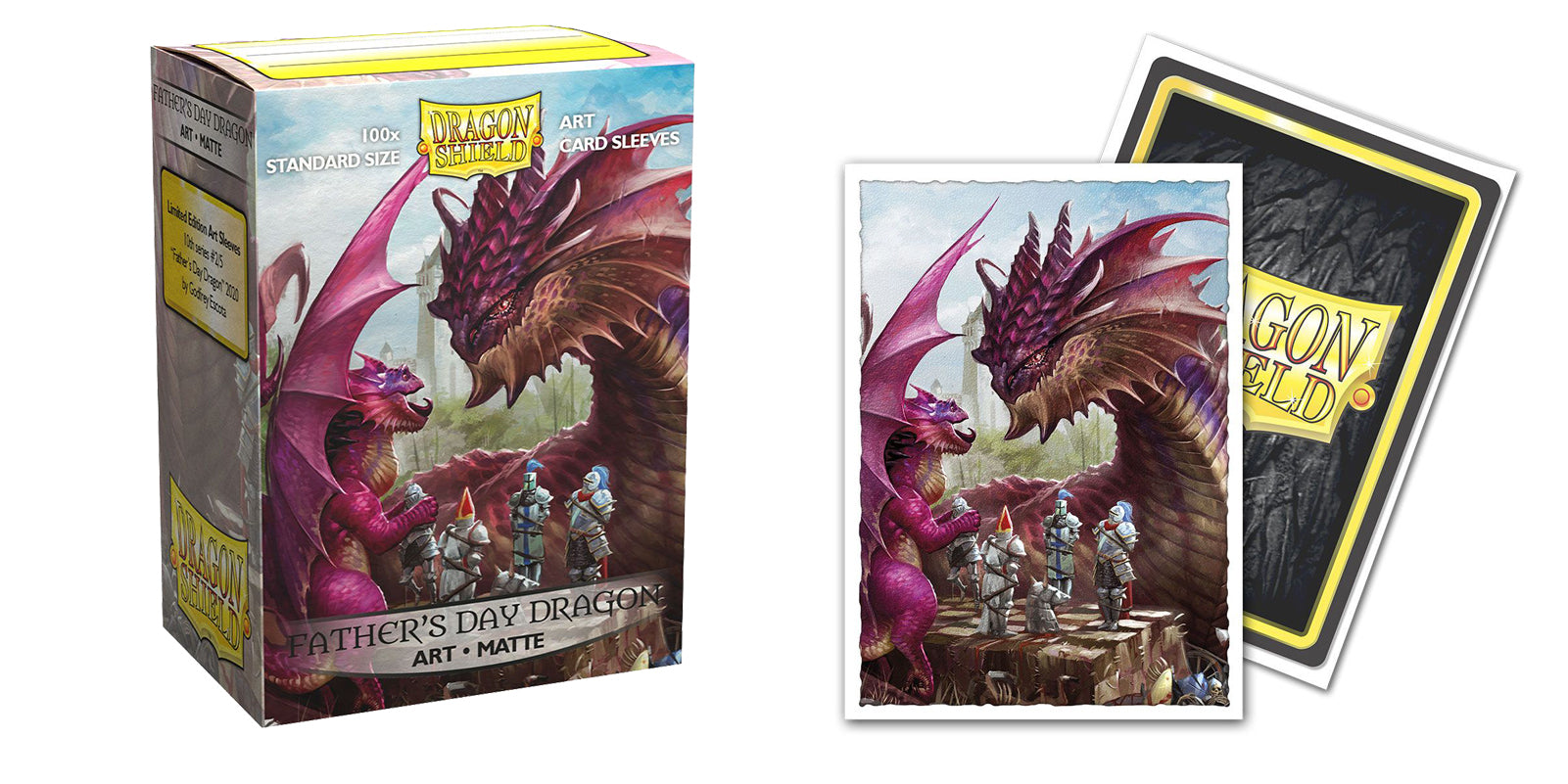 Father's Day 2020 Dragon - Standard Matte Art Sleeves | Gamers Grove